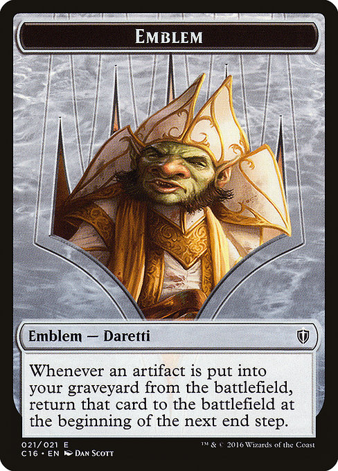 Daretti, Scrap Savant Emblem (TC16)