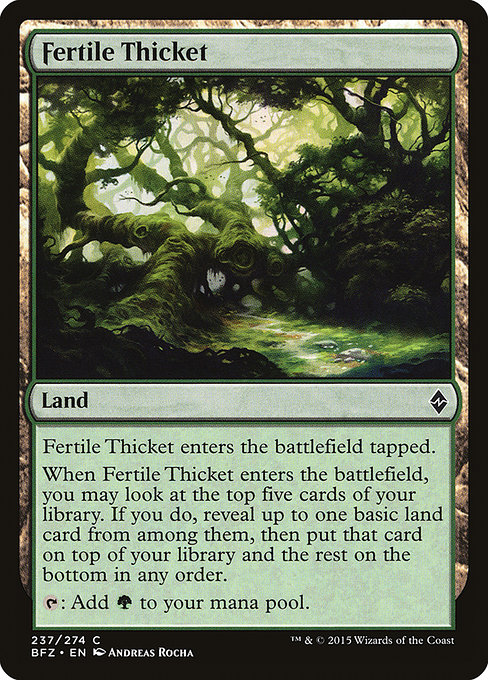 Fertile Thicket (BFZ)