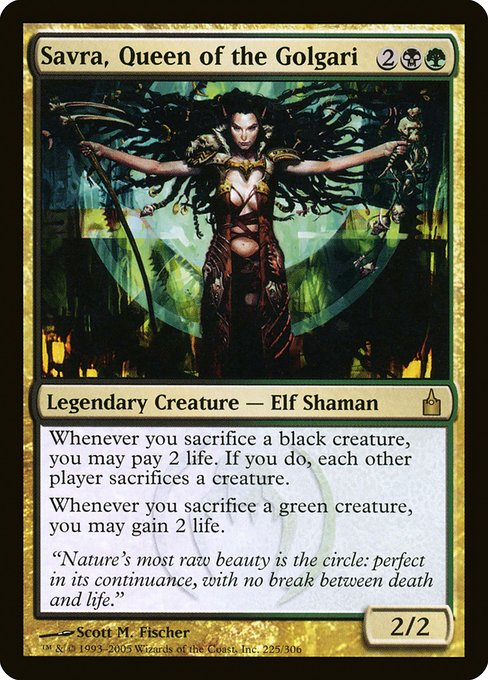 Savra, Queen of the Golgari (RAV)