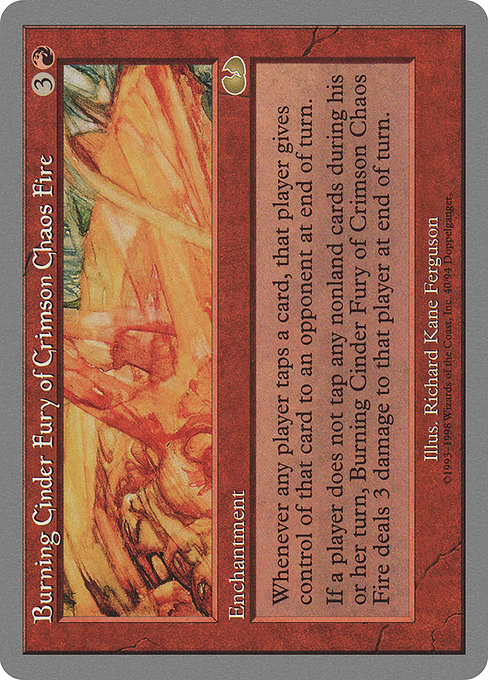 Burning Cinder Fury of Crimson Chaos Fire (UGL)