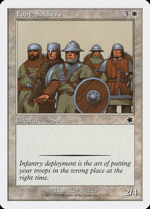 Foot Soldiers (S99)
