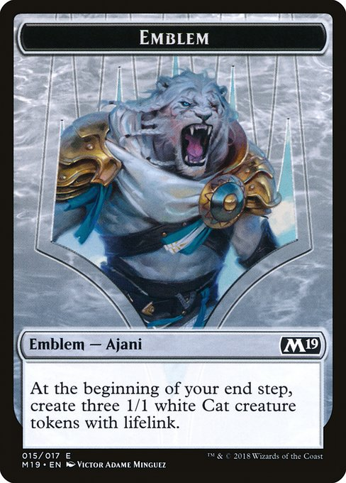 Ajani, Adversary of Tyrants Emblem (TM19)