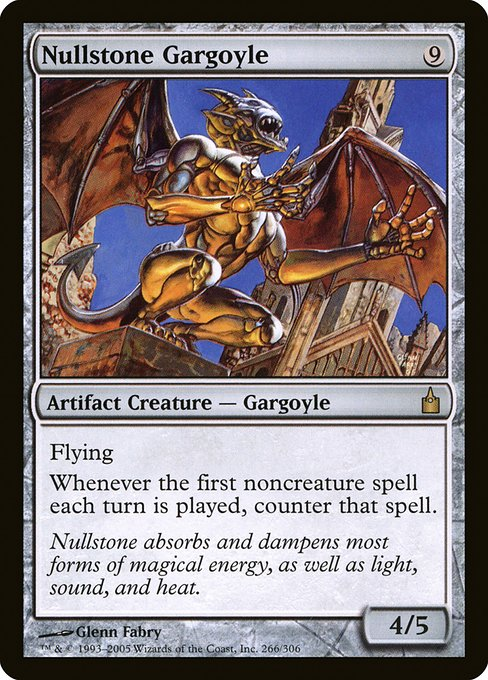 Nullstone Gargoyle - Ravnica: City of Guilds