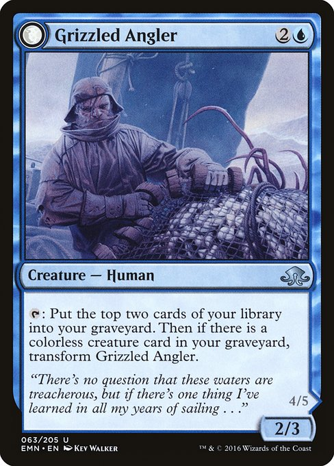 Grizzled Angler // Grisly Anglerfish (EMN)