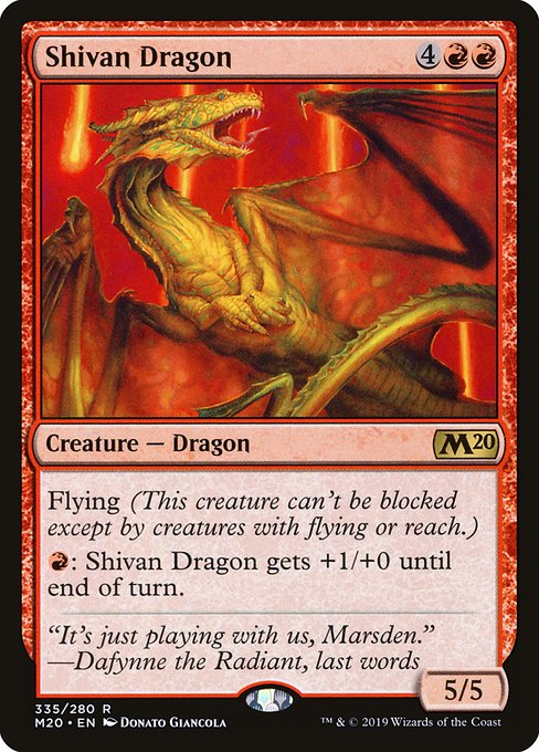 Shivan Dragon (M20)