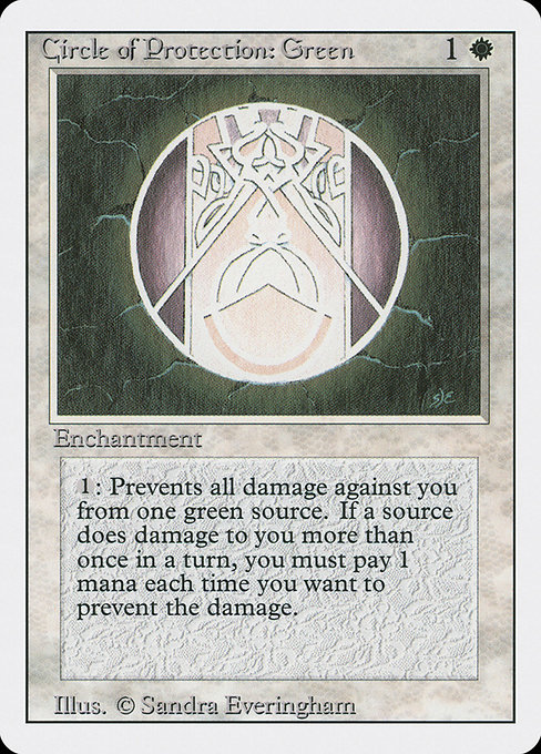 Circle of Protection: Green (3ED)