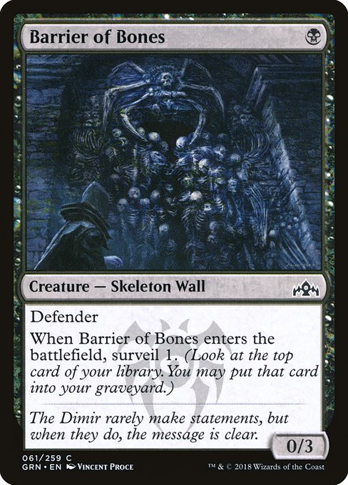 Barrier of Bones (GRN)