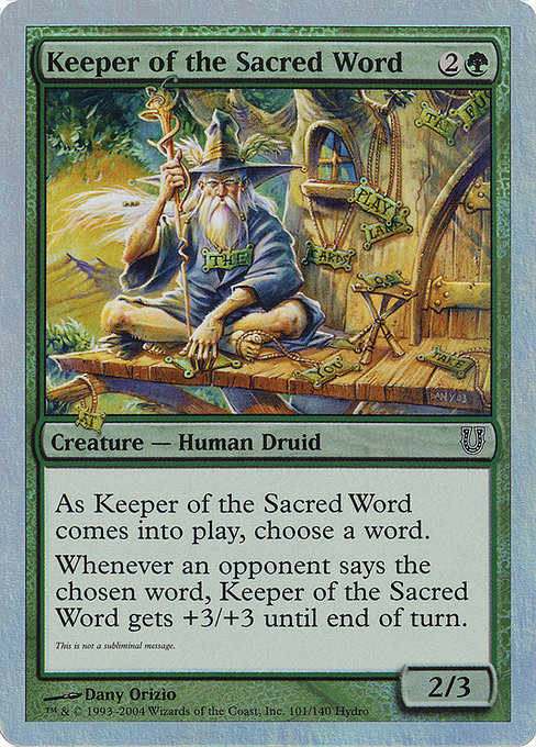 Keeper of the Sacred Word (UNH)