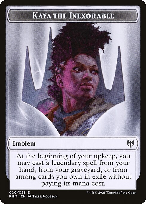 Kaya the Inexorable Emblem (TKHM)