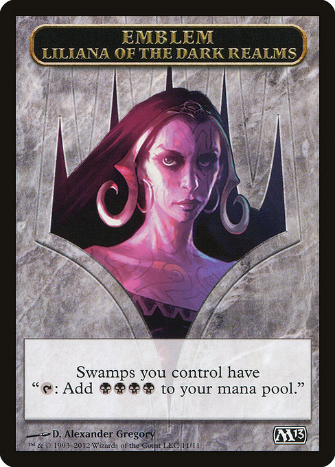 Liliana of the Dark Realms Emblem (TM13)