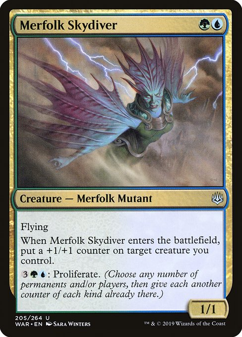 Merfolk Skydiver (WAR)