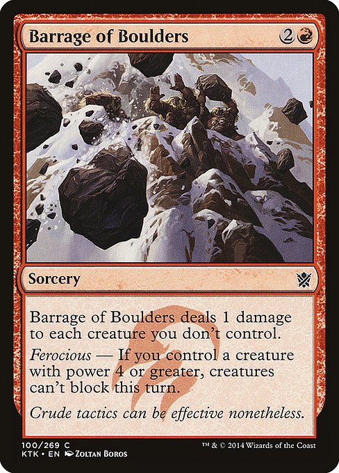 Barrage of Boulders (KTK)