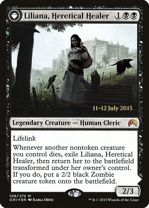Liliana, Heretical Healer // Liliana, Defiant Necromancer (PORI)