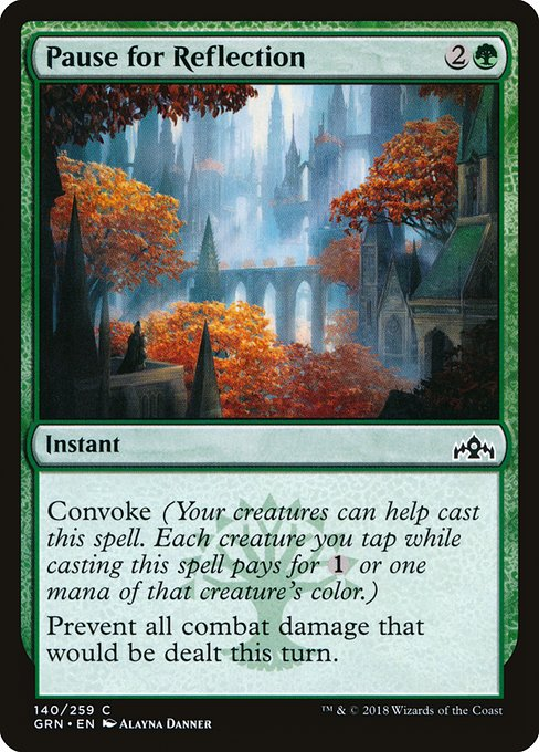 Pause for Reflection (GRN)