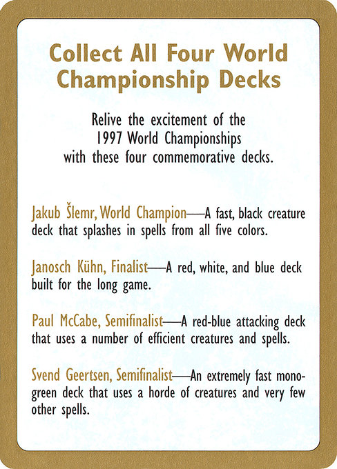 1997 World Championships Ad (WC97)