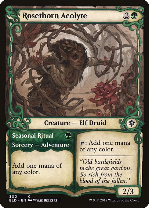 Rosethorn Acolyte // Seasonal Ritual (ELD)