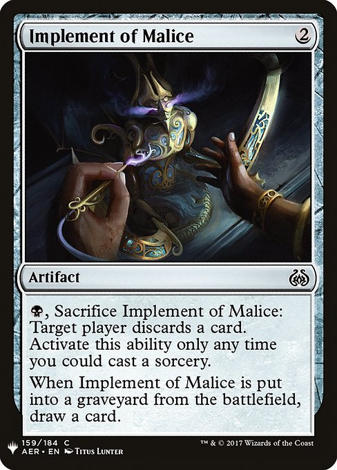 Implement of Malice (MB1)