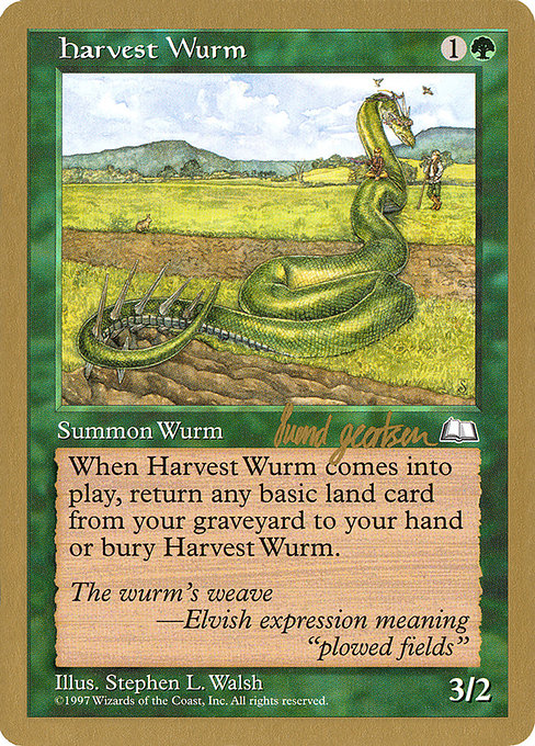 Harvest Wurm (WC97)