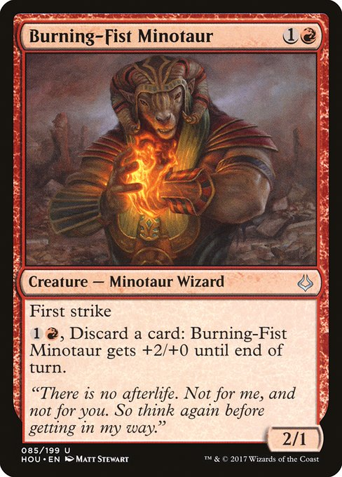 Burning-Fist Minotaur (HOU)