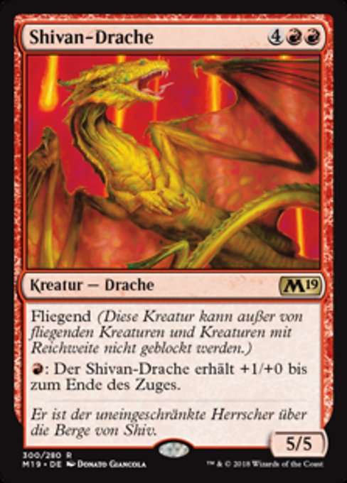 Shivan Dragon (M19)