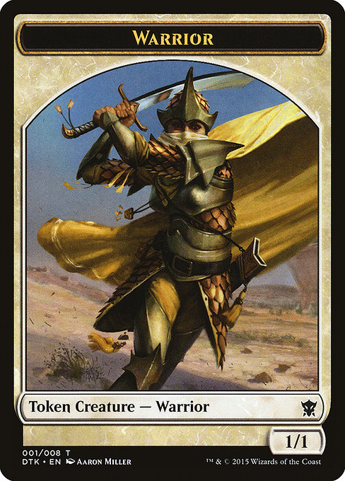 Dragons of Tarkir 8 Djinn Monk Token