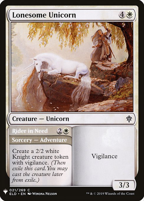 Lonesome Unicorn // Rider in Need (MB1)