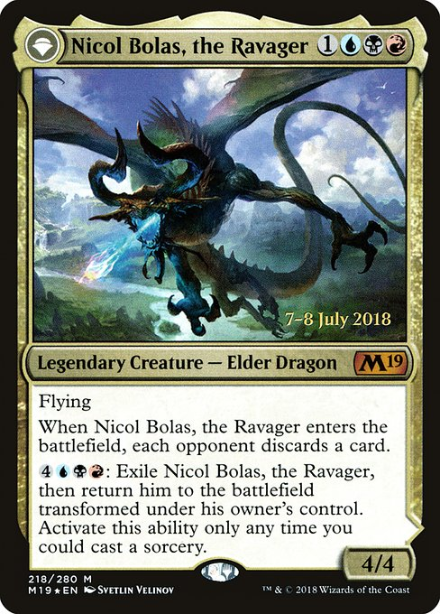 Nicol Bolas, the Ravager // Nicol Bolas, the Arisen (PM19)