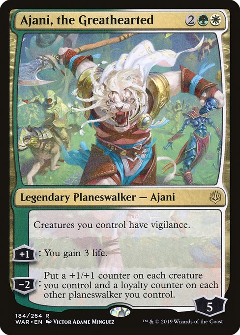 Ajani, the Greathearted (WAR)
