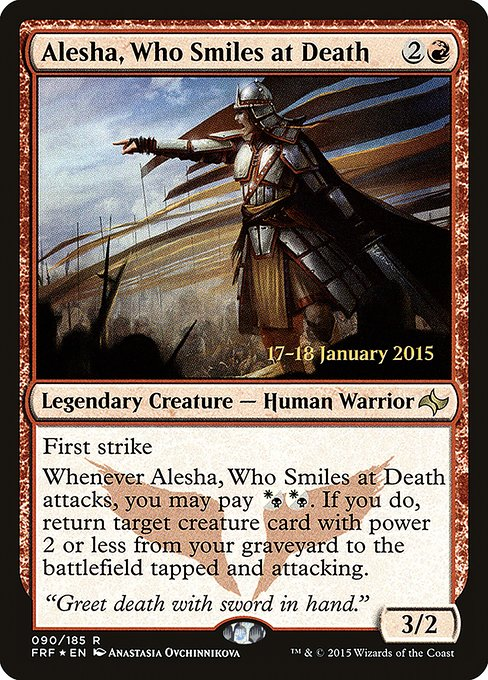 Alesha, Who Smiles at Death (PFRF)