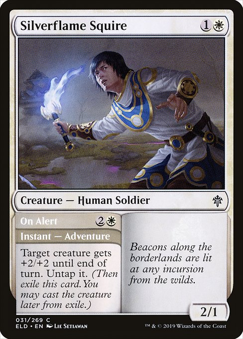 Silverflame Squire // On Alert (ELD)
