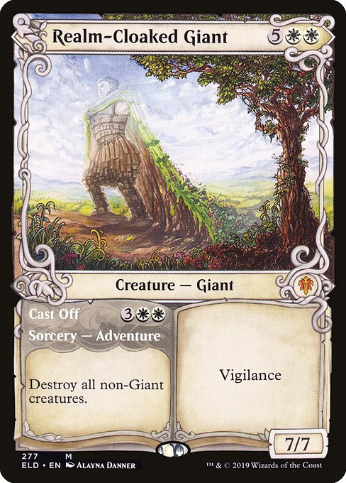 Realm-Cloaked Giant // Cast Off (ELD)