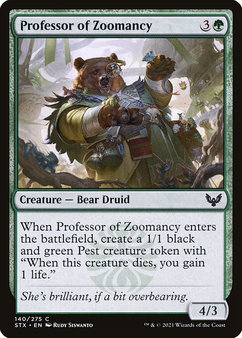 Professor of Zoomancy (STX)