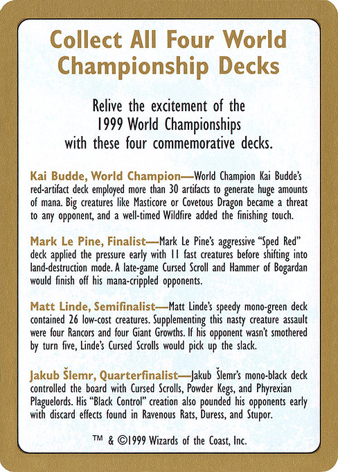 1999 World Championships Ad (WC99)