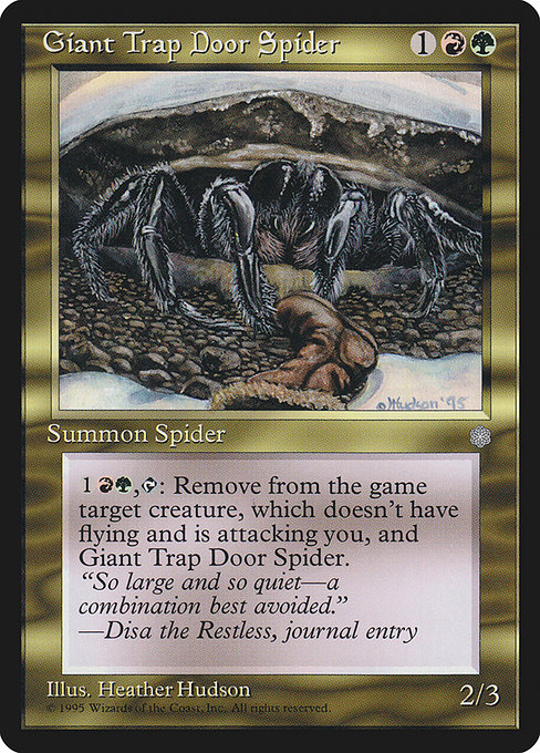 Giant Trap Door Spider (ICE)