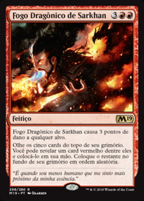 Sarkhan's Dragonfire (M19)