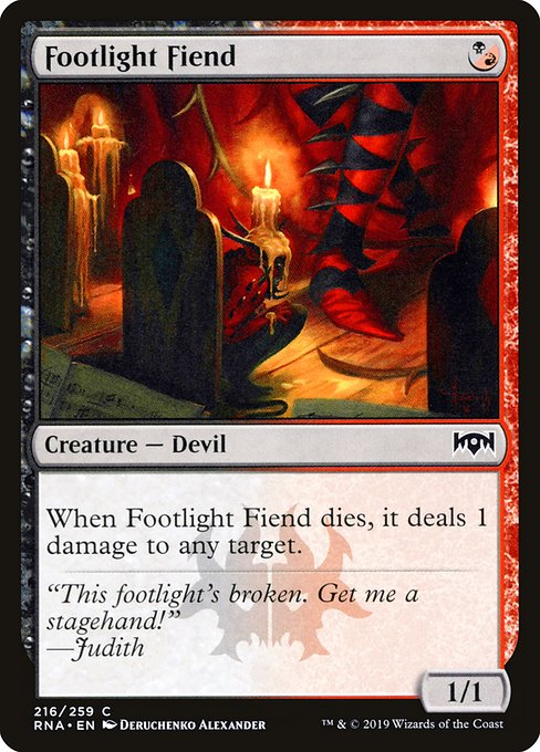 Footlight Fiend (RNA)
