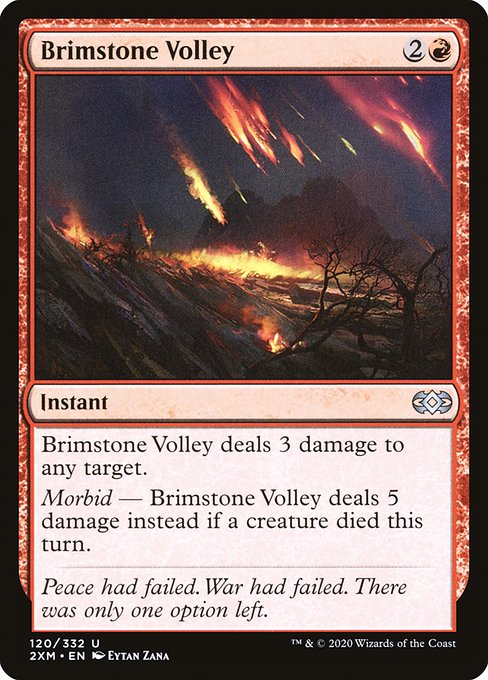 Brimstone Volley (2XM)