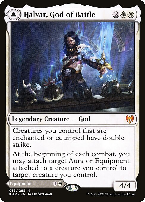 Halvar, God of Battle // Sword of the Realms (KHM)