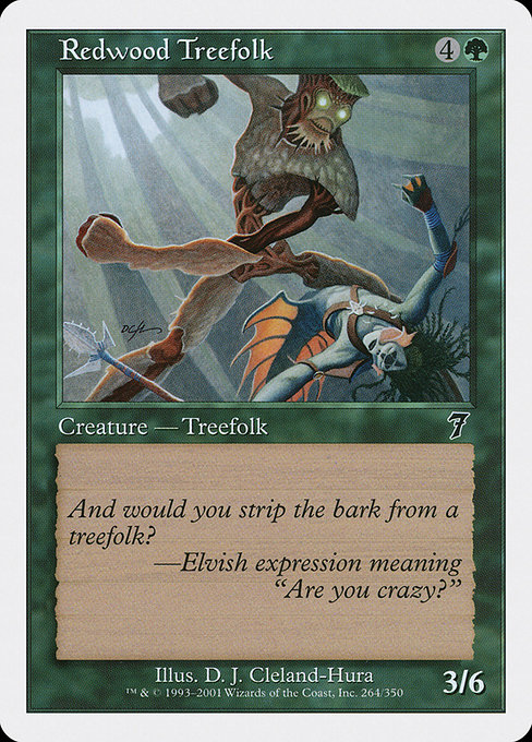 Redwood Treefolk (7ED)