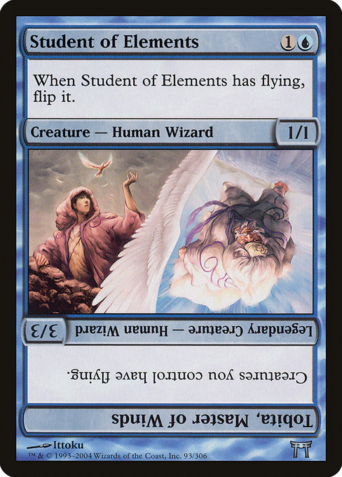 Student of Elements // Tobita, Master of Winds (CHK)