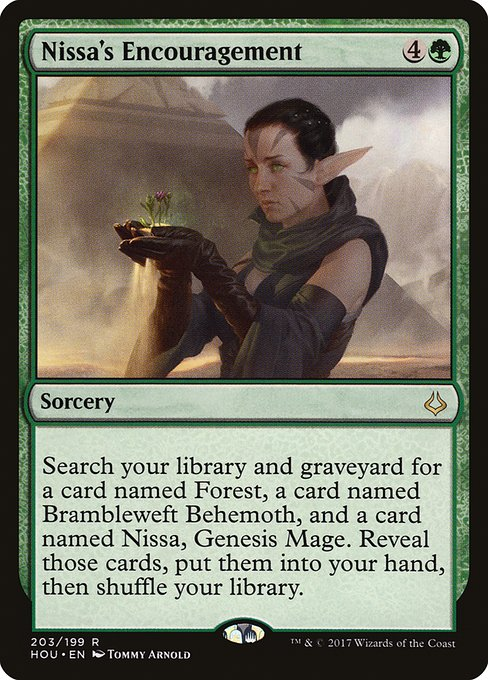 Nissa's Encouragement (HOU)