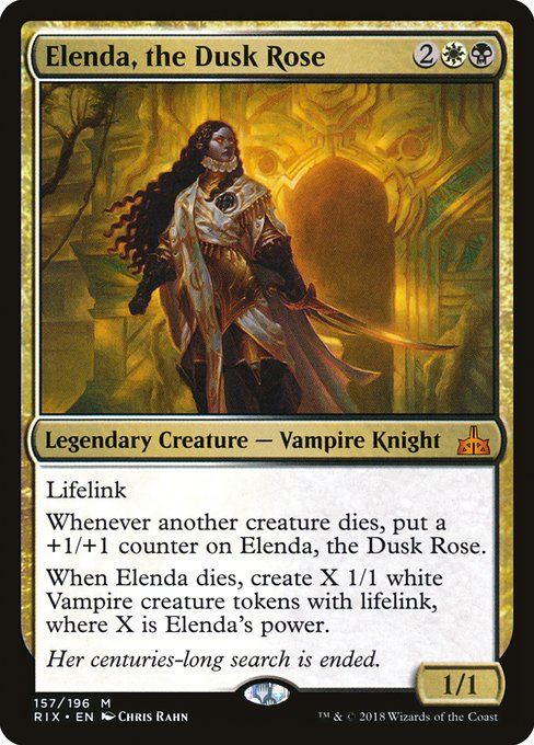 Vampire Tribal Edhrec Darkest hour makes all creatures black, and sacrificing them creates more tokens to sacrifice. vampire tribal edhrec