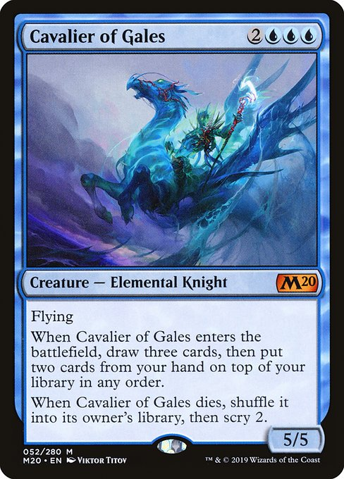 Cavalier of Gales - Magic: the Gathering