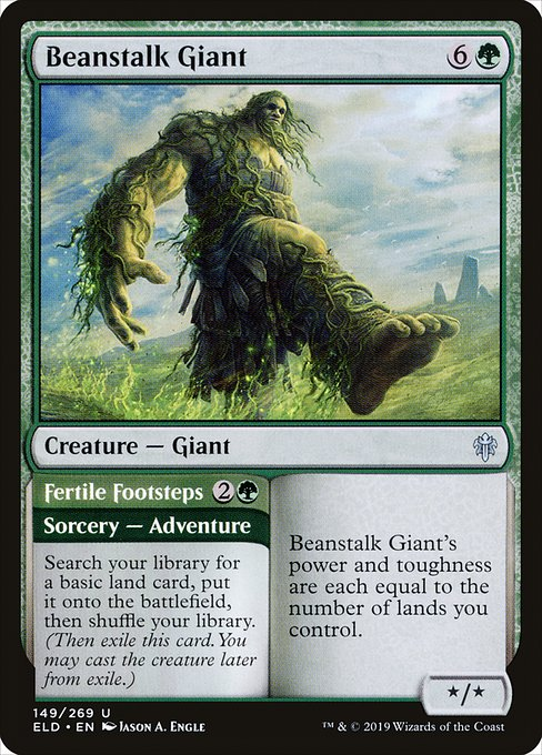Beanstalk Giant // Fertile Footsteps (ELD)