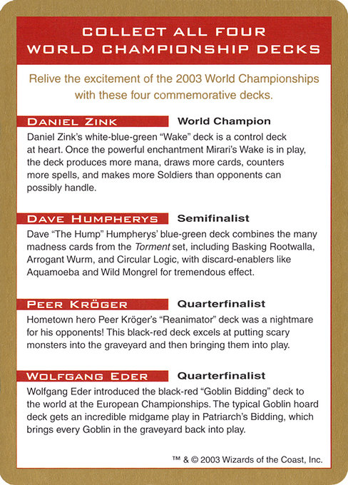 2003 World Championships Ad (WC03)