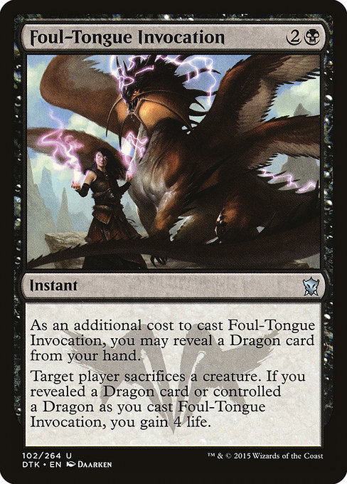 Foul-Tongue Invocation (DTK)