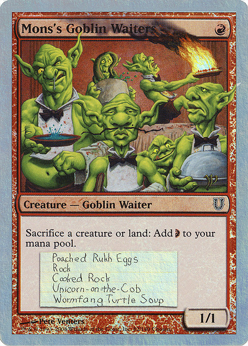 Mons's Goblin Waiters (UNH)
