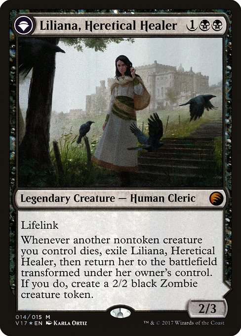 Liliana, Heretical Healer // Liliana, Defiant Necromancer (V17)