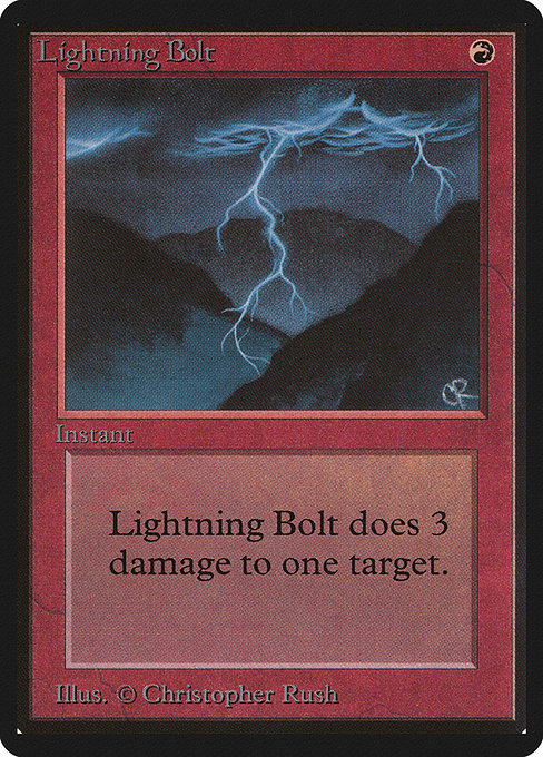 Lightning Bolt - Limited Edition Beta