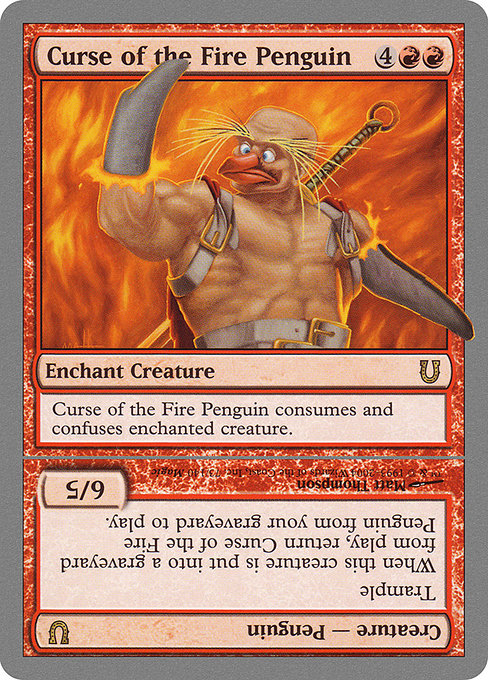 Curse of the Fire Penguin // Curse of the Fire Penguin Creature (UNH)